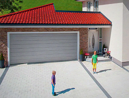 секционные гаражные ворота Алютех Classic